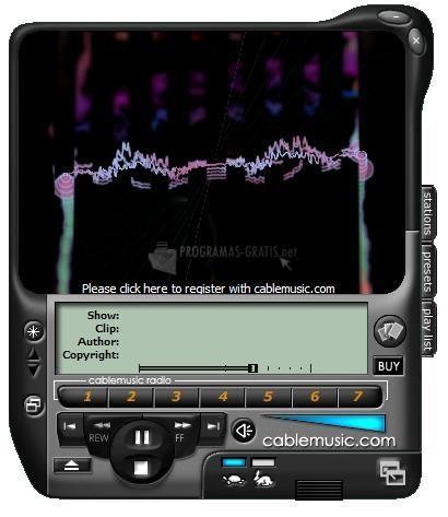 Pantallazo Cable Music WMP Skin