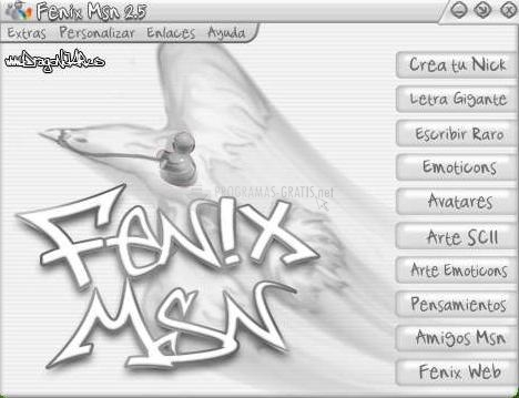 Pantallazo Fenix MSN