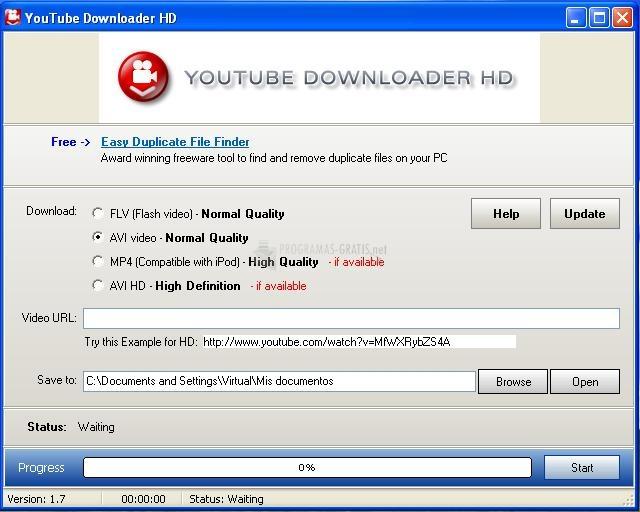 Pantallazo Youtube Downloader HD