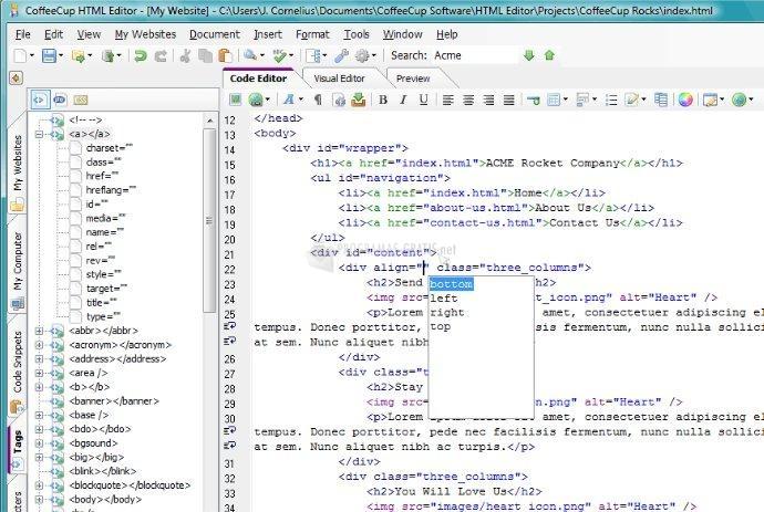 Foto The HTML Editor