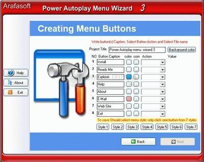 Pantallazo Power AutoPlay Menu Wizard