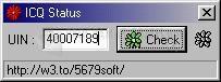 Pantallazo ICQ Status
