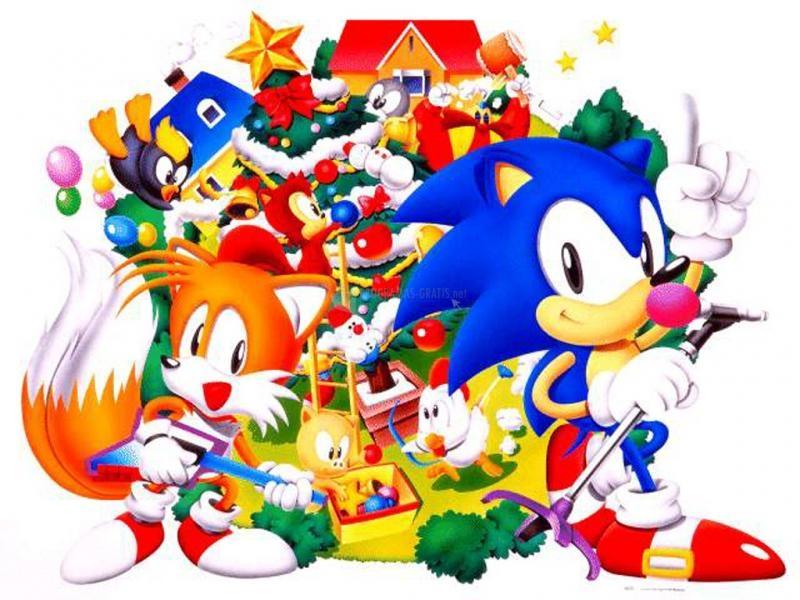 Pantallazo Sonic en Navidad