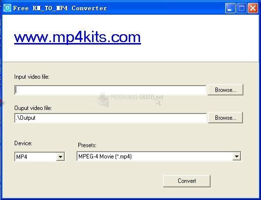 Pantallazo Free RM to MP4 Converter