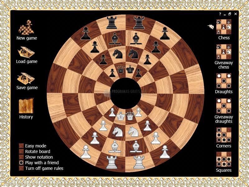 Pantallazo Byzantine Circular Chess