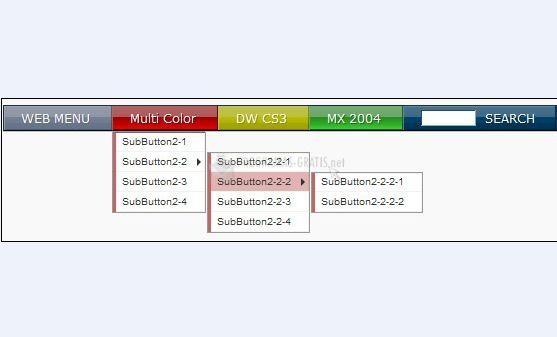 Pantallazo Multicolor Web Menu for Dreamweaver