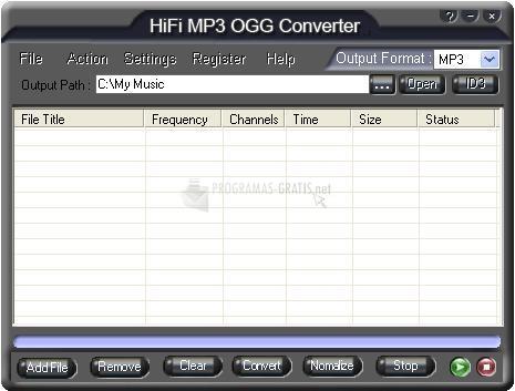 Pantallazo HiFi MP3 OGG Converter