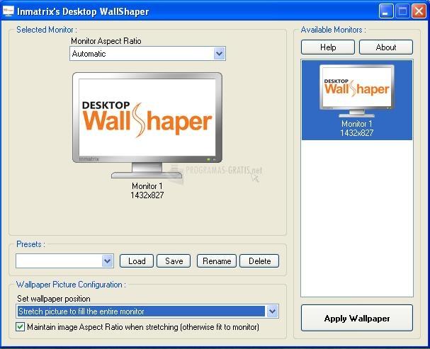 Pantallazo Desktop WallShaper