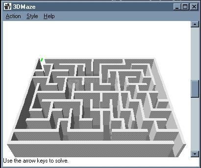 Pantallazo 3D Maze