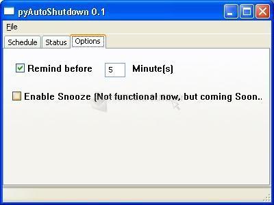 Pantallazo PC Auto Shutdown