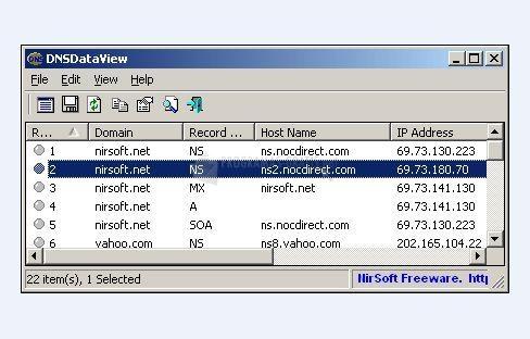Foto DNS Data View