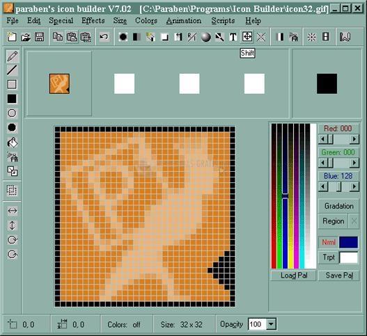 Pantallazo Paraben Icon Builder