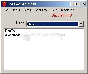 Pantallazo Leithauser Password Shield