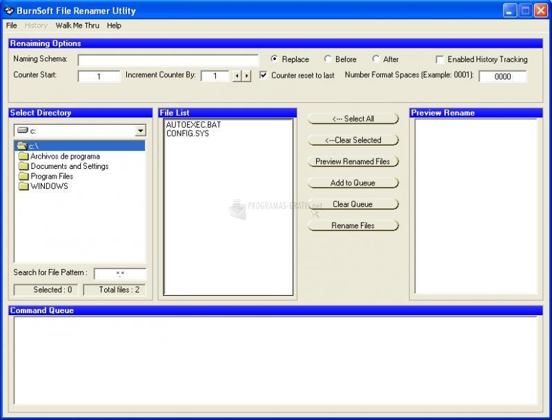 Pantallazo File Renamer Utility
