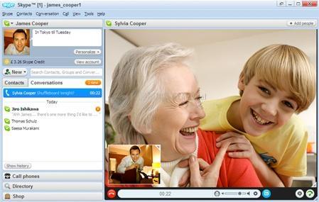 Pantallazo Skype Portable