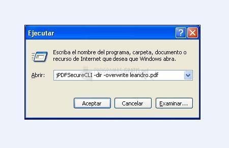 Pantallazo jPDF Secure CLI