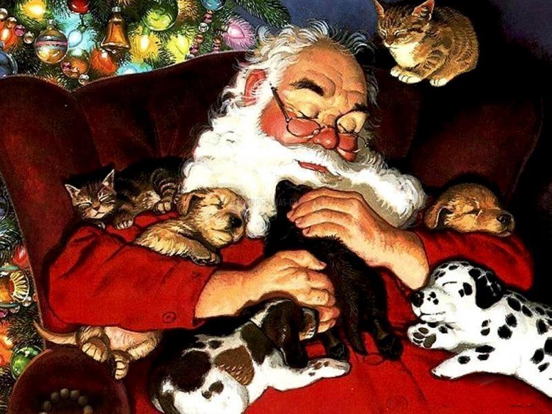 Pantallazo Papá Noel durmiendo