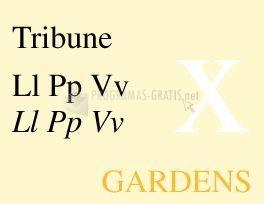 Pantallazo Tribune Font