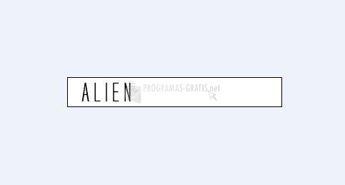 Pantallazo Alien Font