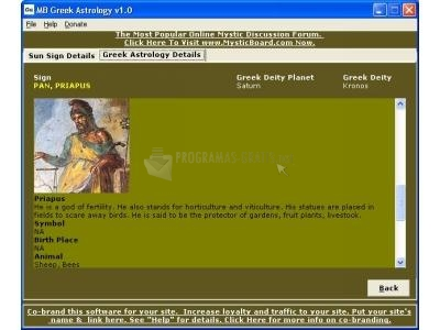 Pantallazo MB Greek Astrology