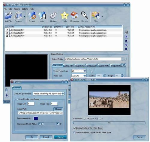 Pantallazo All FLV to Video Converter