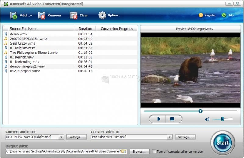 Pantallazo Aimersoft All Video Converter
