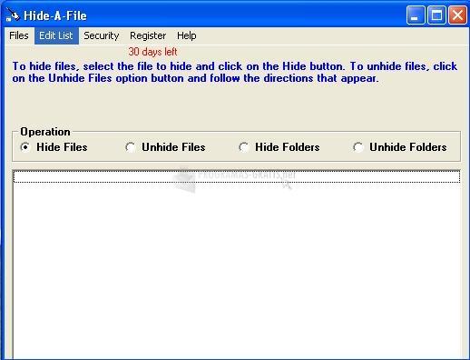 Pantallazo Hide A File