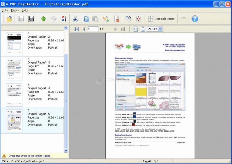 Pantallazo A-PDF Page Master