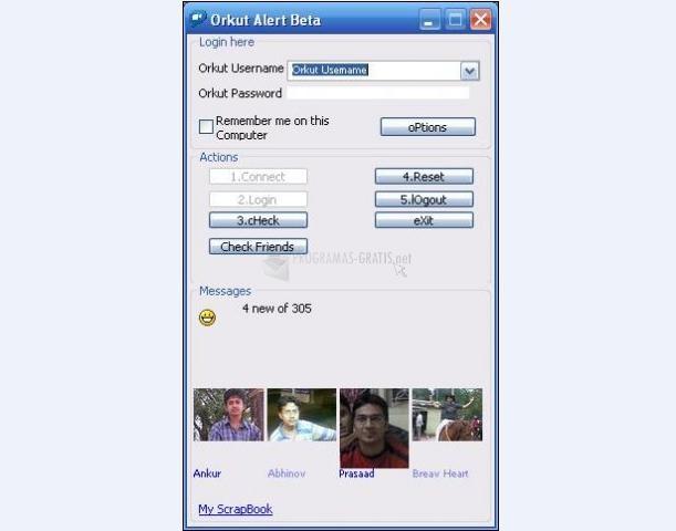 Pantallazo Orkut Alert