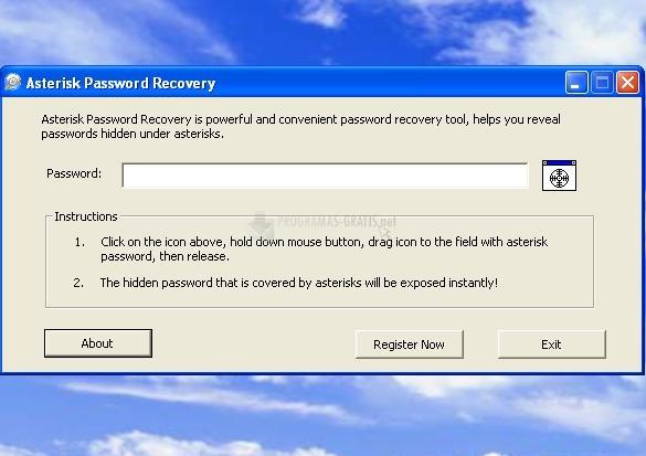 Pantallazo Asterisk Password Recovery