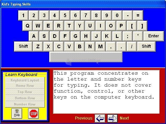 Pantallazo Kid´s Typing Skills