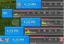 Pantallazo Tray Audio Media Player