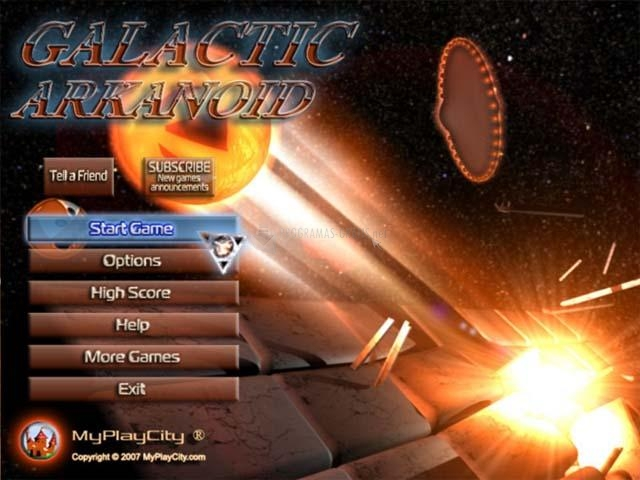 Pantallazo Galactic Arkanoid
