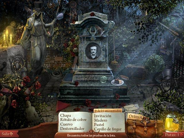 Pantallazo Conspiración Edgar Allan Poe