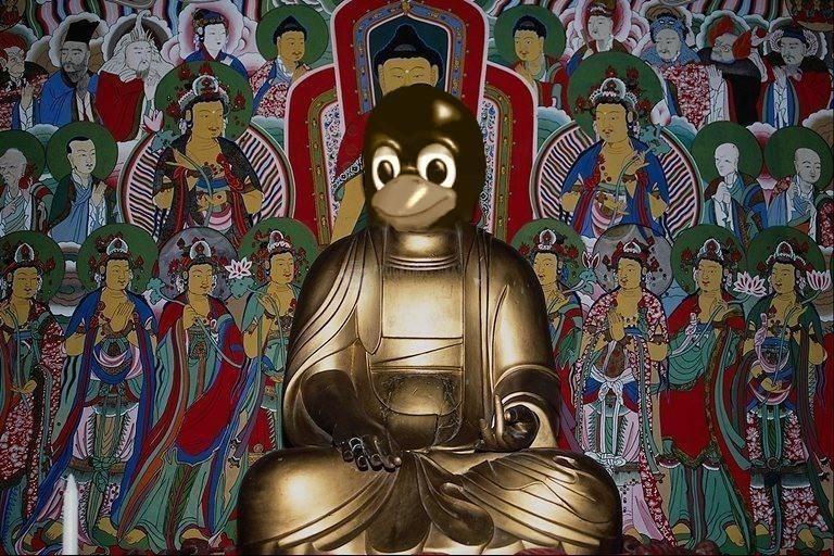 Pantallazo Tux Buda