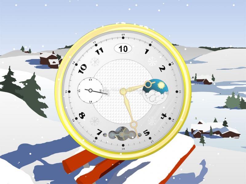 Pantallazo Snowy Clock screensaver