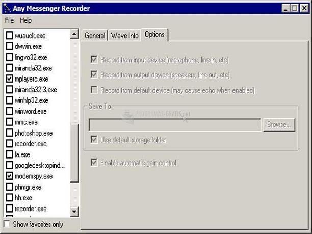 Pantallazo Any Messenger Recorder