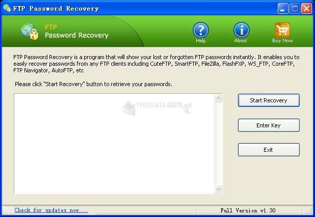 Pantallazo FTP Password Recovery