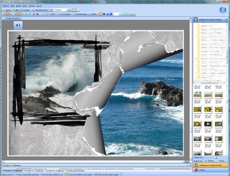 Pantallazo Editor Libro de Fotos