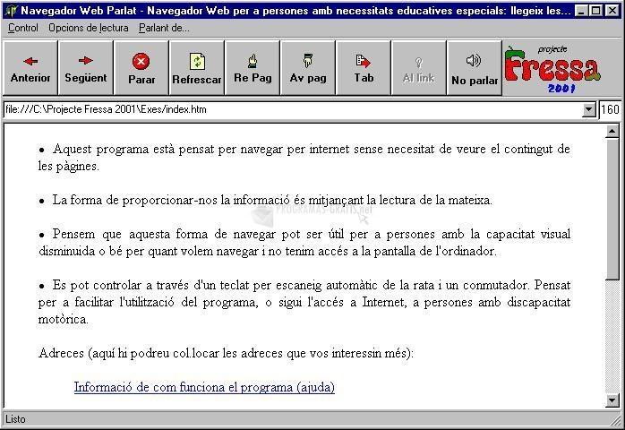 Pantallazo Navegador Web Parlat
