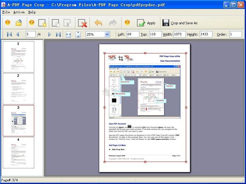 Pantallazo A-PDF Page Crop