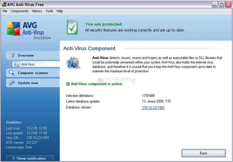 Avg 7.5 free edition antivirus 90 days for windows 7 2017