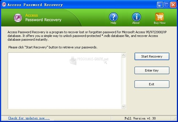 Pantallazo TP Access Password Recovery
