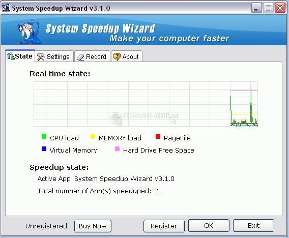 Pantallazo System Speedup Wizard