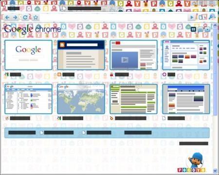 Pantallazo Pocoyó Chrome Tema