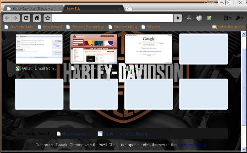 Pantallazo Harley Davidson Chrome Theme