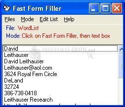 Pantallazo Fast Form Filler