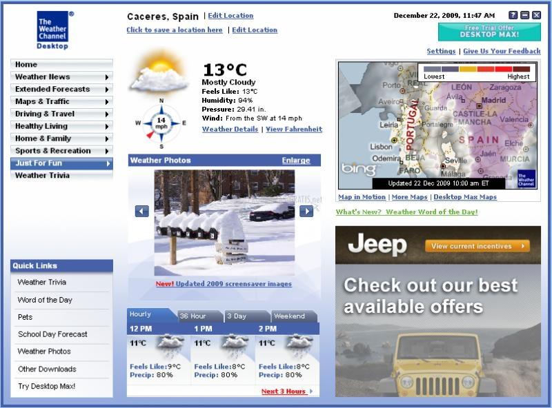 Pantallazo Desktop Weather