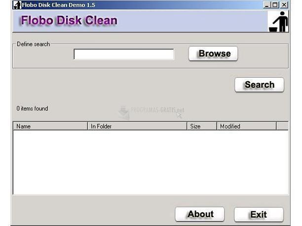 Pantallazo Flobo Disk Clean
