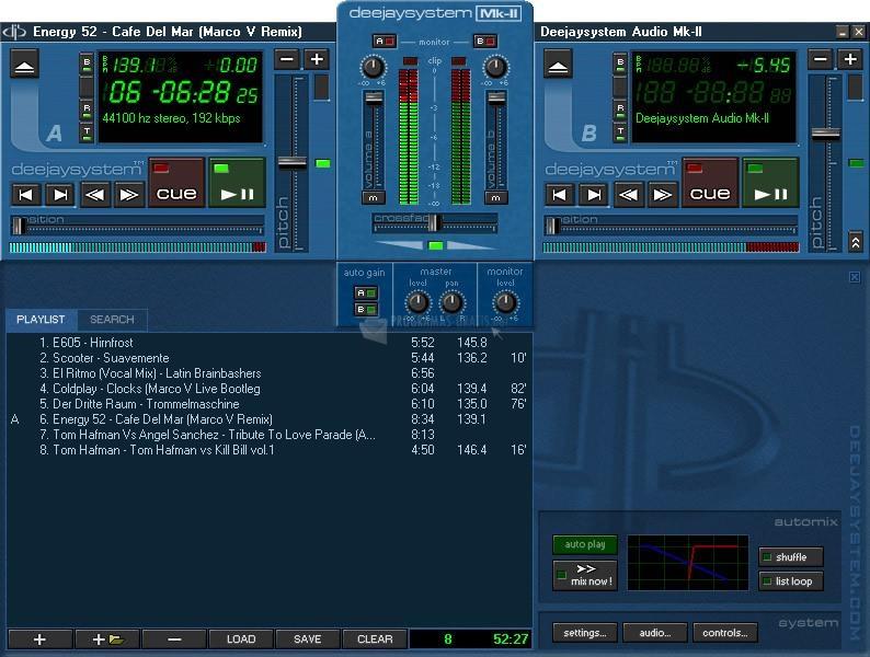 Pantallazo DeeJaySystem Audio MK2